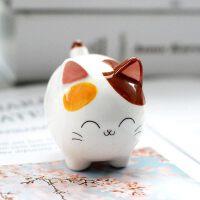 陶瓷小猫咪汽车摆件车内饰品客厅桌面装饰小摆设创意生日礼物礼品