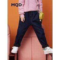 【2件3折价:159】MQD童装男童牛仔裤中大童加厚保暖2019冬装儿童
