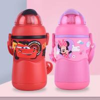 迪士尼儿童保温杯带吸管手柄防摔1-5岁幼儿园水壶宝宝喝水杯子320ml