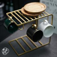 �W式小奢�A金高�n咖啡杯碟套�b�F不�P�家用下午茶具咖啡器具杯架