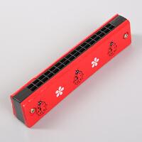 儿童口琴初学木质6孔吹奏乐器幼儿园小学生音乐玩具口风琴 红色口琴1把 图案随机