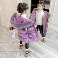 韩版女孩加绒加厚洋气棉袄外套2019冬季新款女童棉衣童装