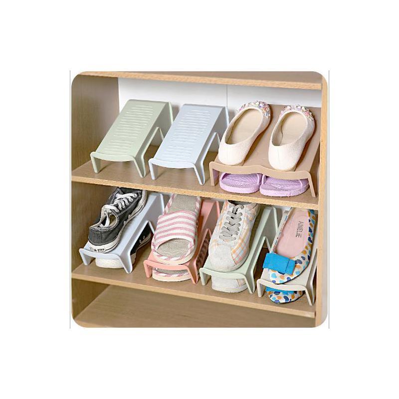 创意衣柜分层鞋子收纳架节省空间上下双层立体式整理收纳鞋架满68元包邮