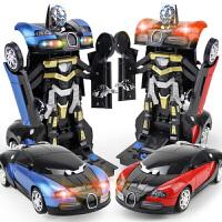 3-6岁儿童玩具非遥控电动万向汽车布加迪大黄蜂机器人自动变形金刚小孩生日礼物
