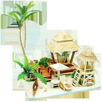 小屋立体拼图模型东南亚建筑儿童创意益智玩具