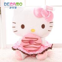 正版HelloKitty凯蒂猫KT猫公仔娃娃毛绒玩具儿童生日礼物
