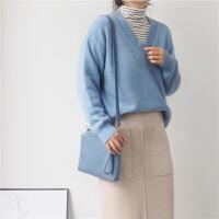 基础百搭领螺纹羊绒针织衫女毛衣 石楠的衣橱18秋冬新品韩版