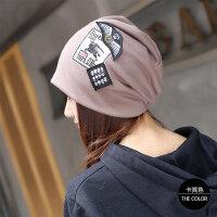 韩版帽子女秋冬套头帽头巾帽百搭时尚女帽堆堆帽包头帽月子帽保暖MYZQ24 送口罩+运费险