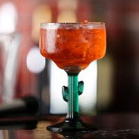 仙人掌杯玛格丽特杯墨西哥玻璃杯高脚杯鸡尾酒杯特饮杯子气泡杯 小号-335mL(12 oz)