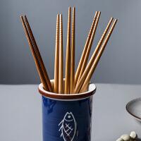 【优选】 日式和风竹制筷子礼盒竹木筷子家用筷子餐具套装伴手礼5双装