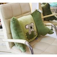 靠垫办公室护腰靠枕座椅子卡通腰部汽车用软腰垫女腰枕可爱靠背垫 橄榄绿 考拉1只 中号,详见描述