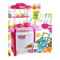 儿童做饭玩具炒菜厨房套装宝宝购物车仿真厨具男孩女童3-5岁女孩男孩儿童宝宝玩具 +可切水果9件套