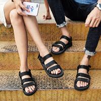 潮情侣凉鞋男士新款时尚夏季沙滩鞋女防滑透气户外休闲鞋