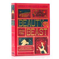 美女与野兽 Beauty and the Beast 英文原版 全彩复刻机关书 彩色手工立体书 儿童文学经典之作 英语