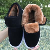 老北京棉鞋男女居家包根棉布鞋保暖牛筋底孕妇月子妈妈鞋散步鞋