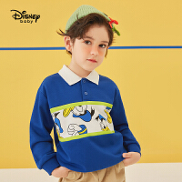 【今日3折�A估�r:59元】迪士尼男童翻�I�l衣2021春�b新款洋��和�����卡通唐老����上衣
