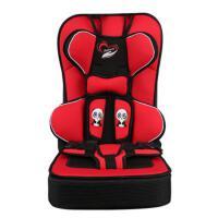 简易儿童安全座椅汽车用婴儿便携式车载坐椅宝宝安全带套0-4-12岁 升级增高款 红色2-12岁