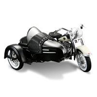 哈雷跨斗三轮摩托车模型 仿真1:18合金车模 原厂