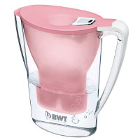德国BWT倍世厨房家用净水壶直饮便携户外净水壶过滤净水器净水杯2.7升 阻垢款一壶一滤芯 紫色 蓝色 橙色 白色 绿色 粉色