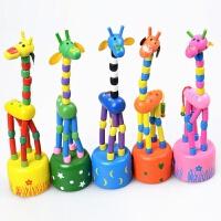 长颈鹿动物玩偶木质创意木偶关节可动扭扭玩具幼儿园儿童宝宝礼物 颜色随机