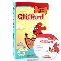 英文原版绘本 大红狗系列4册+CD儿童读物Clifford Chapter Book 儿童英语桥梁章节书套装