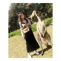 秋冬季新款小香风套装女气质针织毛衣外搭加裙子两件套 针织开衫+裙子两件套
