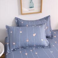 伊迪梦 纯棉夏凉单品枕套简约时尚床上用品单人枕头枕芯套高支高密全活性印染全棉面料qx542