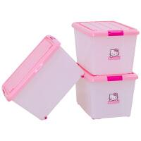 环保塑料 收纳整理箱储物箱KCC-550粉 46L 3只装 粉色3只装 46L
