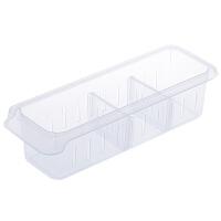黎�卡日本冰箱分格收�{保�r盒透明�ξ锖屑矣�N房塑料�L方形收�{冷藏盒