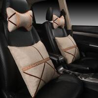 汽车抱枕车用车载车内个性时尚头枕腰靠垫可爱四件套一对四季通用定制