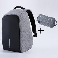 充电防盗背包15寸男女14笔记本电脑双肩包15.6/17寸商务旅行书包潮流时尚个性背包学生双肩包书包