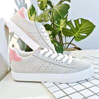 艾米与麦麦2019春季新款韩版反绒皮面休闲鞋女学生潮流百搭低帮休闲平底板鞋灰色
