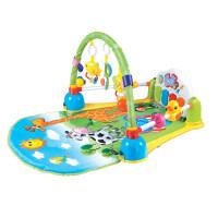 新生婴幼儿脚踏琴健身架器0-3-6-12个月宝宝音乐玩具 趣味多功能脚踏琴健身架