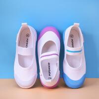 夏季幼儿园室内鞋宝宝女儿童小白鞋小童软底布鞋男透气运动鞋