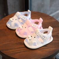 6-12个月男婴儿凉鞋布鞋软底鞋0-1岁女学步鞋夏季宝宝凉鞋