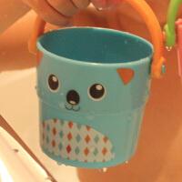 宝宝洗澡玩具卡通婴儿戏水儿童洗澡彩色叠叠乐 堆叠小水桶花洒