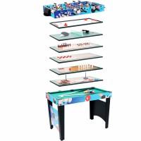 多功能足球机冰球台球乒乓球桌儿童双人玩具台式木质游戏 MT-2010(12合1)游戏桌