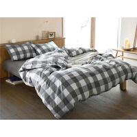 简约1.5m床床单三件套床上用品全棉男士4件套L12定制