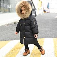 儿童冬装女童棉衣新款冬公主加厚连帽中小童棉袄羽绒外套 1码 身高约80cm