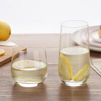 水晶水杯 家用喝水杯子 客厅茶杯 牛奶杯 耐热透明玻璃杯