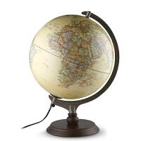 北斗地球仪(30cm中英文浮雕灯光--仿古版)