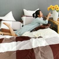 ins风简约欧式全棉被子四件套男床笠被单床上纯棉床单被套三件套4定制