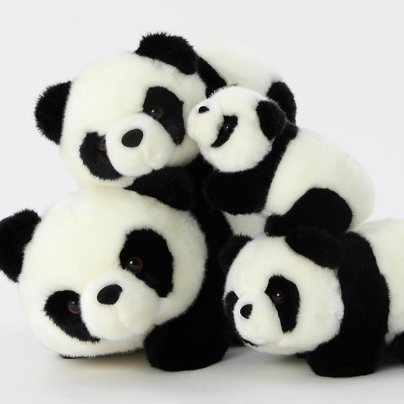熊猫公仔抱抱熊女生礼品可爱*毛绒玩具玩偶抱枕布艺娃娃 默认发情侣熊猫(往左看16cm+往右看16cm)