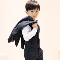 儿童礼服男孩西装马甲套装小主持人钢琴演出服男童花童中大童春秋