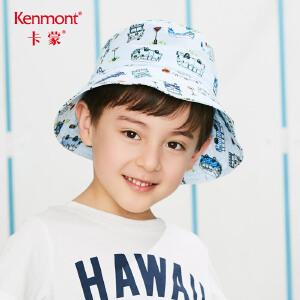卡蒙3-6岁小童遮阳帽薄款春夏出游太阳帽海边防晒盆帽渔夫帽男孩 4698