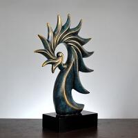创意欧式家居摆件办公用品 树脂工艺品美式创意家居样板间摆设家居软饰装饰摆件 海螺摆件