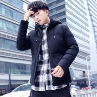 新款男士棉衣外套韩版连帽冬季加厚外衣学生棉袄青年夹克 817深蓝 M90-120斤