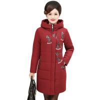 中年女装秋冬装棉衣40岁50妈妈羽绒中长款外套老年人冬季棉袄