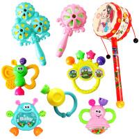 牙胶摇铃 手摇铃婴儿玩具0-3-6-12个月宝宝男女孩4牙胶1岁新生儿幼儿5