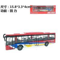 合金车15CM回力公交车 巴士车模型 汽车儿童玩具车 红色巴士一辆 盒装
